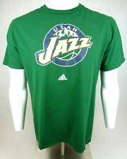 Utah Jazz Adidas Go-To T Shirt Green Men's Size L