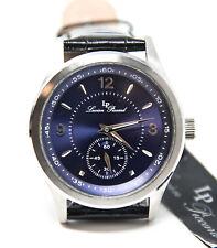 Lucien Piccard LP11606-03 Men's Grande Casse Watch Dark Blue Face Leather Strap