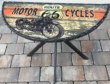 "Beistelltisch Metall ""Motorcycles Route 66"" 83x40x75cm ! Retro Shabby Style"