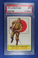 1965 Topps Battle Cards - #58 Japanese Soldier - PSA Ex 5
