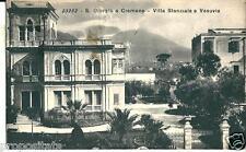 cm 119 1936 S.GIORGIO A CREMANO (Napoli) - Villa Stanziale e Vesuvio - viagg FP