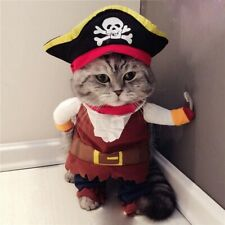 Funny Cat Costumes Pirate Suit Cat Clothes Kitten Corsair Party Clothes For Cats