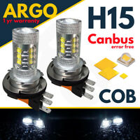 H15 White Car Cree Led Bulbs 80w Drl Daytime Running Lights Dual Filament Canbus