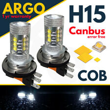 2x H15 Led White 80w Cree Hid Drl High Beam Bulbs Vw Golf Mk6 Mk7 Gtd Bmw Audi