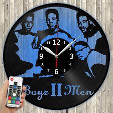 LED Clock Boyz II Men LED Light Vinyl Record Wall Clock LED Wall Clock 4276