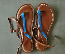 Used BERNARDO Merit Thong Strappy Leather Sandals Flip Flops  sz 10
