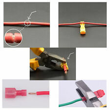 40pcs Red Quick Lock Splice Wire Connector Terminal Crimp Clip Car Wiring Cable