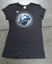 Adidas Impact Montreal Gray Color Women's Short Sleeve Size X-Large