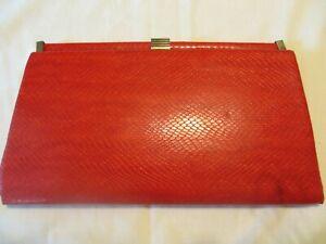 Vintage Red Clutch Bag