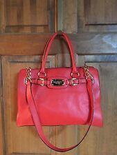 Michael Kors Hamilton Mandarin Orange Leather Large West Bag
