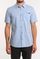 Regular Size Solid Button-Front Casual Shirts for Men