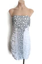 BNWT Seduce Women's Silver Grey Strapless Dress Evening Size 12