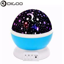 SOLMORE Constellation Night Light Baby Kid Lamp Moon Star Sky Projector Rotating
