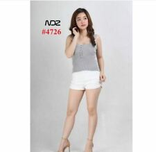 KNITTED SLEVELESS TOPS NDZ4726 - LIGHT GRAY