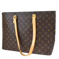 Auth LOUIS VUITTON Luco Tote Shoulder Bag Monogram Leather Brown M51155 64MF651