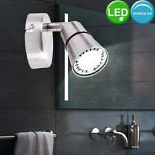 LED Wand Leuchte Lese Lampe Spot beweglich Strahler Beleuchtung silber Brilliant
