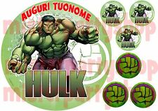 Cialda - Ostia per torte Hulk con 6 mini cialde dischetti già ritagliati!