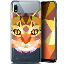 """Gel Case Cover for Samsung Galaxy A10 (6.2 """") Extra Fine Polygon Animals - Cat"""