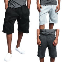 Men Loose Cargo Shorts Casual Pocket Overalls Baggy Gym Sport Jogger Sweat Pants
