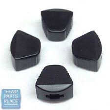 1958-88 GM Car Black Plastic Heater / AC Control Knobs - Slide Type - Set