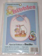 Bucilla Bibbles Cross Stitch Bib Kit 63415 SAILOR GIRL
