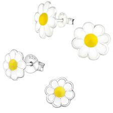 Daisy Flower Hypoallergenic 925 Sterling Silver Stud Earrings For Kids/Girls
