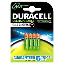 Duracell Stay Charged AAA Battery, Pack of 4