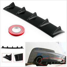 23''x6'' Gloss Black Car Offroad Rear Bumper 5 Shark Fins Spoiler Decoration Lip