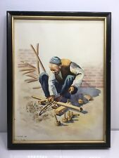 1961 Watercolor Art Painting Iran Tehran Signed