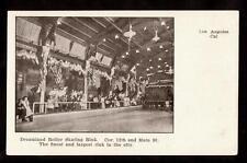 c1907 balloon route dreamland roller skating los angeles california postcard