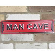 Man Cave Vintage Retro Metal 3d Pub Bar Garage Shed Wall Sign Large Red Plaque a