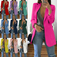 2019 Fashion Women Casual Slim Business Blazer Suit Coat Jacket Outwear S-5XL