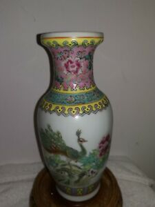 Porcelain Vase Made in China Hand Painted