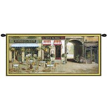 "CITYPARIS CAFE PICTURE WALL TAPESTRY TERRACE TERRASSE VIEW 32""x71"""