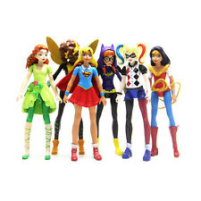 6PCS DC COMICS SUPER HERO GIRLS HARLEY BATGIRL SUPERGIRL ACTION FIGURES DOLL TOY