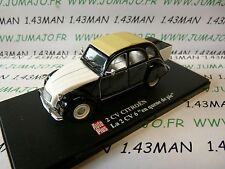 2CVAP11F voiture 1/43 ELIGOR Autoplus CITROËN 2CV n°39 6 en queue de pie