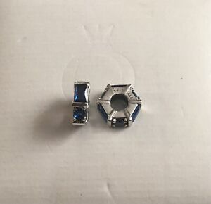 Genuine Pandora Blue Ice Cube Spacer Charm X 1 - 797529NSBL