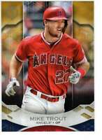 Mike Trout 2019 Topps Tribute 5x7 Gold #1 /10 Angels