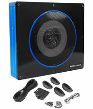 "Rockville RW8CA 8"" 600 Watt Low Profile Under-Seat Active Powered Car Subwoofer"