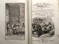1830 EDUCATION HENRY IV GRAVURES SAGACITE VALEURS + MAXIMES LOUIS XIV LIVRE BOOK