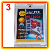 3 Ultra Pro ONE TOUCH MAGNETIC 100pt UV Card Holder Display Case Two Piece 81911