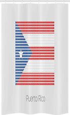 Puerto Rico Cortina de Ducha La bandera nacional con los puntos