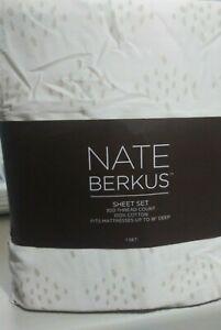 BRAND NEW Nate Berkus 100% Cotton 300TC TWIN SIZE SHEET SET DIAMOND