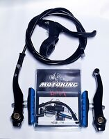 MOTOKING BMX PRO 8 V-BRAKE KIT BLACK/BLUE FITS - Redline,Haro,SE,dk,GT,Mongoose