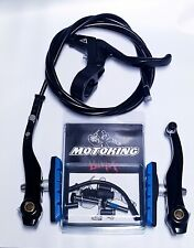 MOTOKING BMX PRO 8 V-BRAKE KIT BLACK/BLUE FITS - Redline,Haro,SE,dk,GT,Mongoose