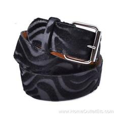 Zebra Print Faux Fur Textured Leather Belt Animal Striped Unisex Mens Womens