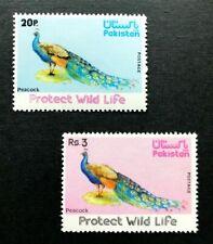 Pakistan #404-5 Peacocks - Protect Wild Life - MNH