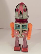 TN Nomura X 70 Tulip Head robot tin toy Japan B/O