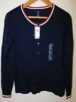 NWT Gap Women's Crew Cardigan Blue Tipped XS S Free Shipping MSRP $40 NEW