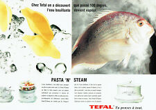 Publicité Advertising 078  1995  Tefal  le Pasta' N' Steam (2 pages)